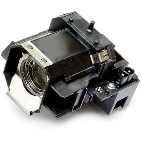 Alda PQ Original, Lámpara de proyector para EPSON PowerLite Pro Cinema 1080 UB Proyectores, lámpara de marca con PRO-G6s viviendas
