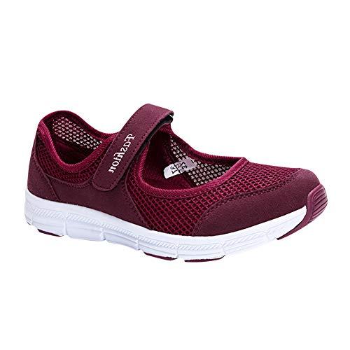 Gtagain Zapatos para Mujer Plano Sneaker - Sandalias Deportivas Ligero Bailarinas Confort Clásico Plano...