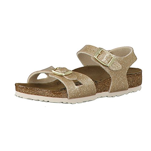 Birkenstock Kids Mädchen Rio Riemchensandalen, Gold (Magic Galaxy Gold), 27 EU