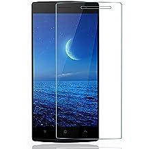 Protector de pantalla Cristal templado para Oppo Find 7 l Calidad HD, Grosor 0,3mm, Bordes redondeados 2,5D, alta resistencia a golpes 9H. No deja burbujas en la colocación (Incluye instrucciones y soporte en Español)