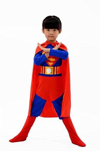 Kostüm Reality Show - nihiug Halloween Kleider Kinder Strumpfhose Rächer Superman Performance Kostüm Männer Und Frauen Umwelt Superman Teufel Reality Schlafzimmer,Blue-140cm