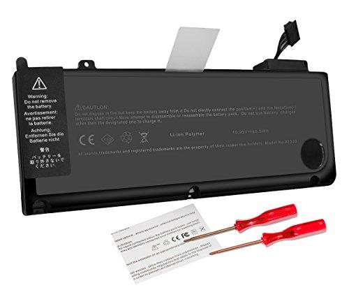 Laptop Ersatz Akku für Apple 13 Zoll Macbook Pro A1322 A1278 (Mitte 2009, Mitte 2010, Anfang 2011, Ende 2011, Mitte 2012 Version) + Kostenloses Schraubendreher + 18 Monate Garantie (Batterie Des Apple Macbook Pro 13 Mid 2009)