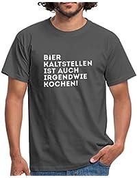 6485175760e61a Spreadshirt Bier Kaltstellen Ist Auch Kochen Witziger Spruch Männer T-Shirt