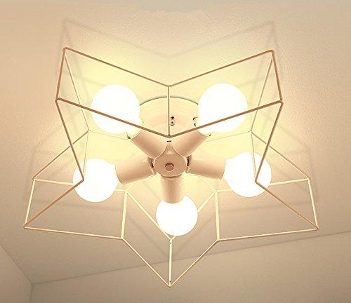 Lumière de plafond Simple créative Éclairage à cinq pointes Éclairage moderne Chambre à coucher LED Luminaires plafonniers Salle de jeux pour enfants Éclairage de salle à manger(Couleur : B)