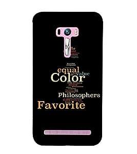 PrintVisa Positive Attitude 3D Hard Polycarbonate Designer Back Case Cover for Asus Zenfone Selfie ZD551KL