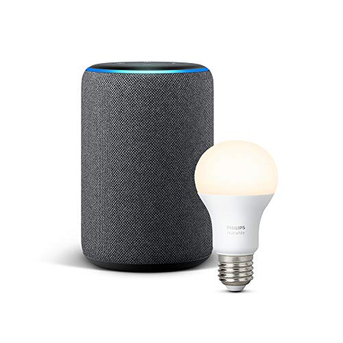 Echo Plus (2.ª generación), tela de color antracita + Philips Hue White Bombilla