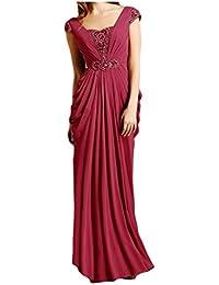 Por la noche vestidos de novia de la gasa de la Toscana para Mujer Fiesta vestidos