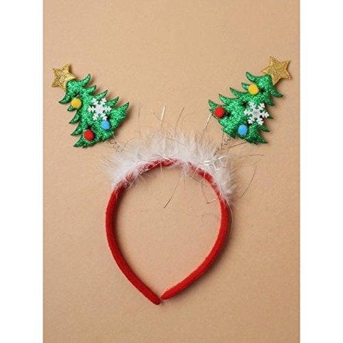 Allsorts® Weihnachtsbaum Bopper Haarreif mit weißem Fell und Lametta Trim -