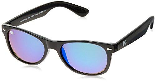 MTV Mirrored Oval Unisex Sunglasses (Black) (MTV Mirrored-121-C8) image