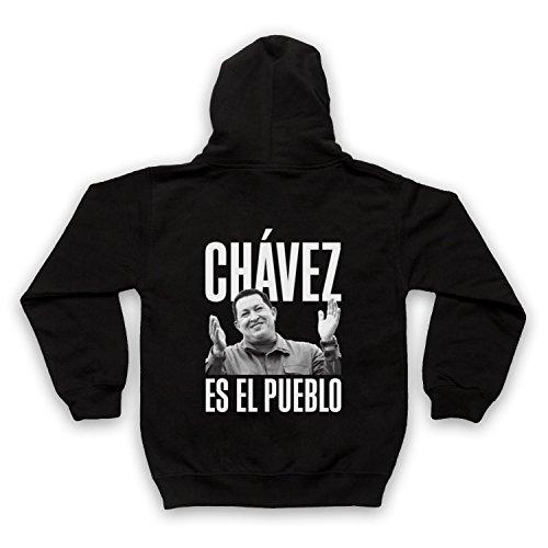 Hugo Chavez Es El Pueblo Kinder Kapuzensweater mit Reißverschluss, Schwarz, 9-11 Jahren