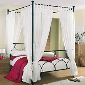 Tab top voile 4 poster bed curtain set includes 8 voile - Four poster bed curtains ...