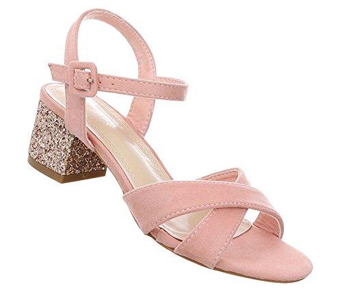 Damen Schuhe Sandaletten Riemchenpumps Pantoletten Designer Sommerschuhe Strandschuhe Abendschuhe Plateaupumps Rosa 39