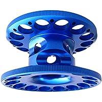 SGerste Ultraleichte Aluminium-Legierung Finger Spule Halter Spule für Unterwassertauchen Tauchen Schnorcheln Blau