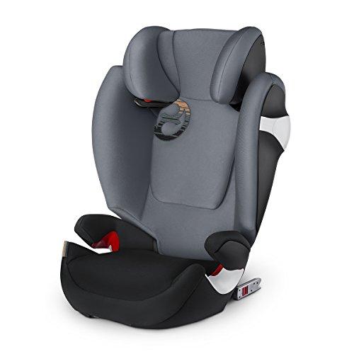 CYBEX Solution M - Fix Siège Auto Groupe 2/3 - Pepper Black - (15-36 kg/3-12 ans)