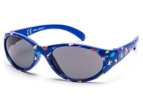 Sonnenbrille Little Kids JUNGE | 8 monate bis 2 Jahre | sehr komfortabel und sicher | 100% UV-Schutz und flexible Gummibeine. | ideales Geschenk für Kinder KI30514