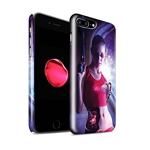 Offiziell Elena Dudina Hülle / Glanz Snap-On Case für Apple iPhone 8 Plus / In Flammen Muster / Superheldin Kollektion Cyborg