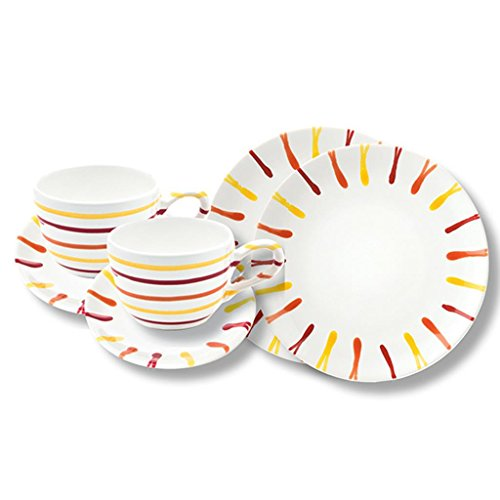Gmundner Keramik Manufaktur 0105STSC06SET landlust Breakfast for Two Classic,