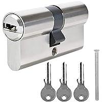 BETOY - Cilindro de cierre con 3 llaves de seguridad, cilindro perfilado, cilindro de puerta, 30/30 (60 mm) cerradura de puerta, cilindro de cierre, cerradura de cilindro