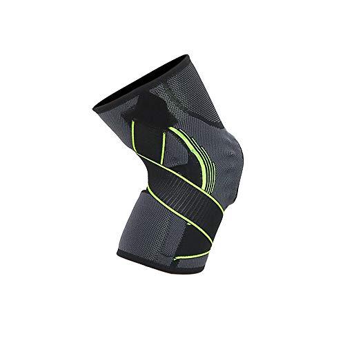 WXQQ SportKniebandage- Knieschoner für Sport und Alltag - Kniestütze für Damen und HerrenGreen
