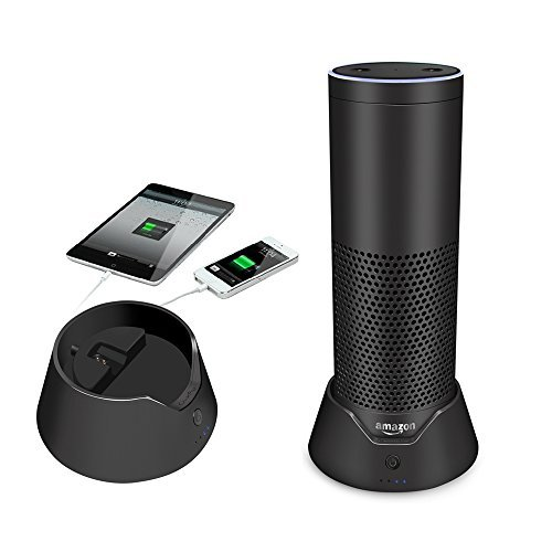 für Amazon Echo ladegerät Intelligente Batterie Basis Mobile Akku Charging Dock Charger Stand Battery Base Charging Station with Wireless Magnetic Power Connector (Nicht geeignet für Echo Plus) (Kindle-cradle-ladegerät)