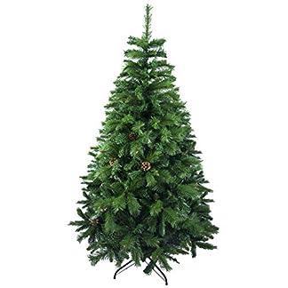 Árbol de Navidad Artificial de Pino Maxi-Relleno Abeto Artificial C/Soporte Metálico 150-240cm (Verde, 150cm 418Tips)