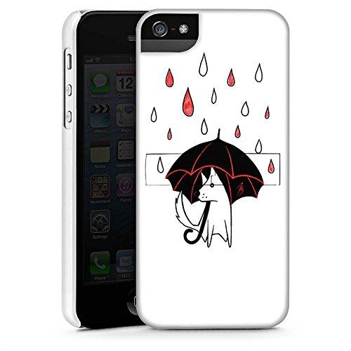 Apple iPhone X Silikon Hülle Case Schutzhülle Hund Comic Style Regen Premium Case StandUp