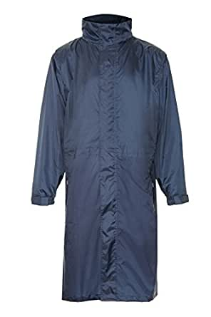 """Men's & Ladies Official Champion """"Storm"""" Breathable Waterproof Long Coat in Navy (X-Small)"""