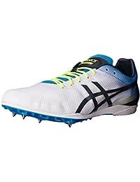 ASICS Zapato de pista Cosmoracer LD para hombre, blanco / azul de metilo / pizarra oscura, 6 M de EE. UU.