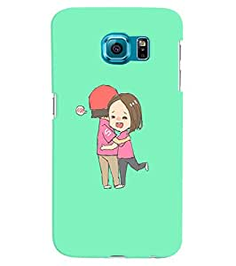 Citydreamz Boy and Girl\Hug Hard Polycarbonate Designer Back Case Cover For Samsung Galaxy S6