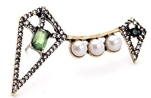 delicado-faux-pearl-emerald-gree-diamantes-incrustados-earclip-pendientes-en-un-acabado-de-oro-antig