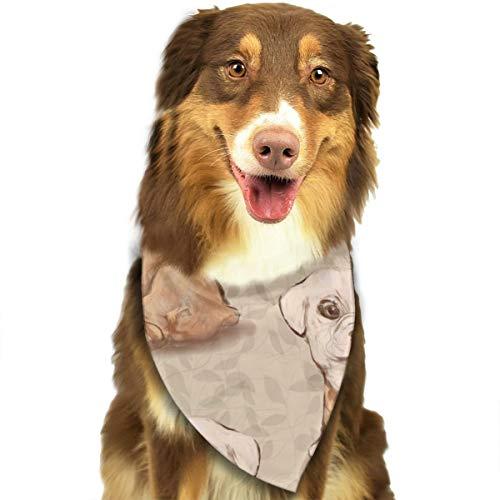 Beauty-Design Hunde-Halstuch, Bulldoggen-Welpe, mit Vinyl-Hintergrund, Halstuch, Halstuch, Halstuch, Dreieck, Lätzchen, Zubehör für kleine bis große...