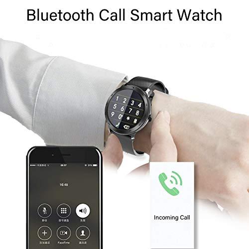 Imagen de smartwatch, reloj inteligente impermeable ip68 pulsera actividad inteligente mujer hombre, reloj deportiva cronómetro/monitor de ritmo cardíaco/sueño/anti perdida fitness tracker para ios y android alternativa