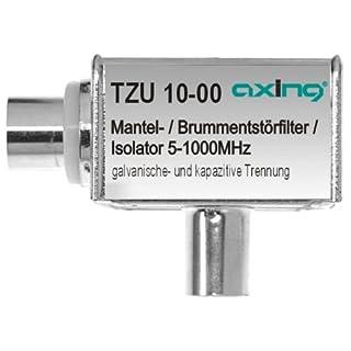 Axing TZU 10-00 Ground Loop Isolator hum eliminator Sheath Current Filter with IEC-Connectors