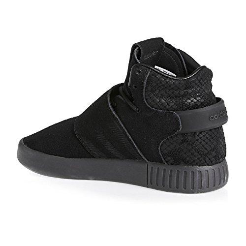 adidas Tubular Invader Strap, Sneakers Hautes Mixte Enfant, Noir Noir (Core Black/core Black/utility Black)