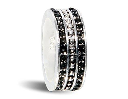 Enez Edler Damen-Herren-Ring Größe: 52 Echt Silber 925 Edelsteine z336