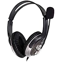 HP B4B09PA Wired Over The Ear Headphone with Mic (Black)
