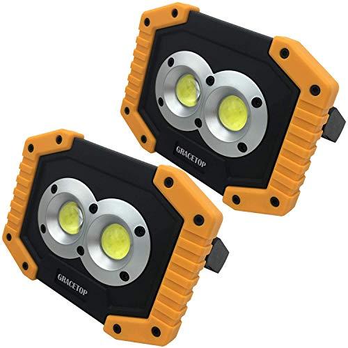 2pcs Faro Luce LED portatile 20W, 1500LM 6400mAh con Batteria Ricaricabile Integrata Lampade di ispezione Super luminoso luce Ispezione To
