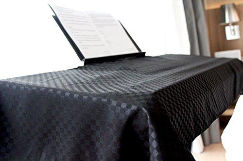 Clairevoire universelles Keyboard & digitales Klavier Staubabdeckung [Ebenholzschwarz] für 88 Tasten | Ständeröffnung | Premium | Doppelbeschichtet für zusätzlichen