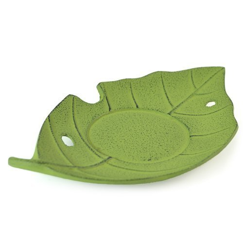 Japanese Fallen Green Leaf Cast Iron Tea Cup Coaster by Zen Minded