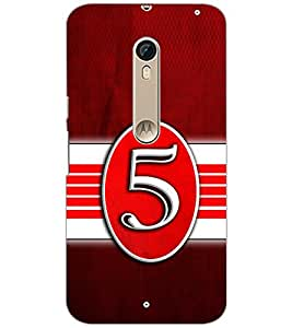 PrintDhaba NUMBER FIVE D-6645 Back Case Cover for MOTOROLA MOTO X STYLE (Multi-Coloured)