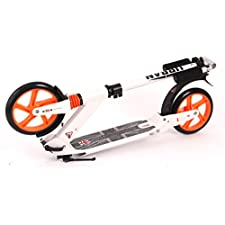 UKayed Urban Stunt Jump Scooter Modern Strong Solid Metal Design (White)
