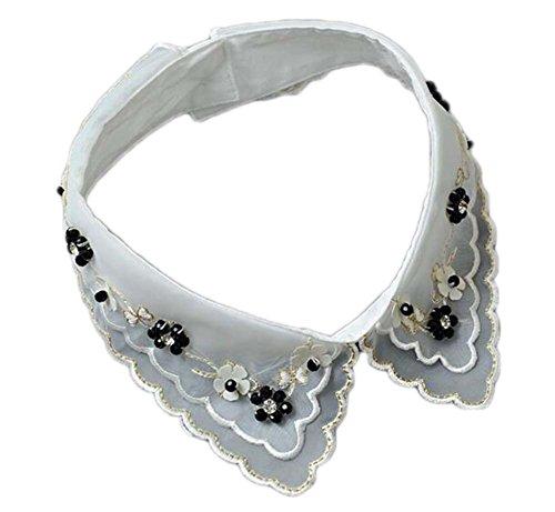 East Majik Frauen Mädchen falsche Kragen-Halskette Abnehmbare Abnehmbarer Hemdkragen