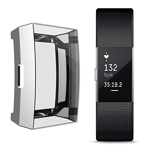 Preisvergleich Produktbild Igemy Ultradünne Plating Weichen TPU Schutz Silikon Case Fit Fitbit Charge 2 (Silber)