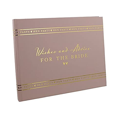 HEN PARTY Wishes & Advice For The Bride Pink Guest Book