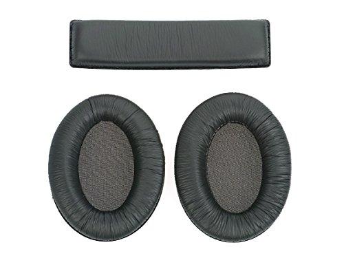 WEWOM set di cuscinetti di rimpiazzo per cuffie Sennheiser HD180, HD201 and HD201S, con 2 cuscinetti per le orecchie e 1 per il cerchietto