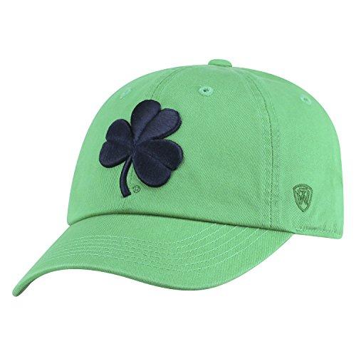 Top of the World NCAA Herren College Town Crew verstellbar Baumwolle Crew Hat Cap, Herren, Notre Dame Fighting Irish-Kelly Green with Shamrock, Einstellbar Notre Dame Shamrock Green