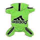 Scheppend Adidog Cane Felpe Cotone Cane Gatto Maglione Cucciolo di T-Shirt Primavera Cappotto Vestiti Verde M