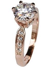 Fashion Plaza Damen Ring mit Kristall Schultern R295
