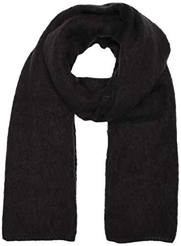 only onllima knit long scarf acc noos cc sciarpa, nero (black black), taglia unica donna