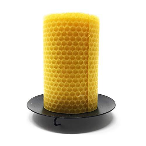 VINE RITUALS® Soporte de vela de metal negro con pinchos para pilar La forma más inteligente de añadir ambiente en casa, bodas y fiestas, negro, 10 cms
